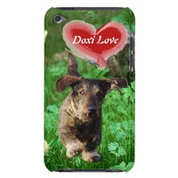Dachshund with Red Heart iPod Touch Case