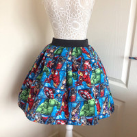 Marvel Avengers full skater style skirt