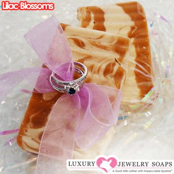 Lilac Blossoms Luxury Jewelry Soaps