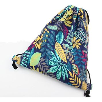 Aloha Hawaiian Tropical Drawstring Bags Cinch String Backpack Funny Funky Cute Novelty