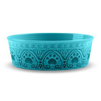 Medallion Paw Print Pet Bowl