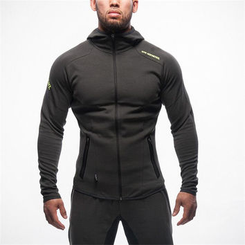 2016 Gymshark Hoodies camisetas Gym masculina hombre coat Bodybuilding and fitness
