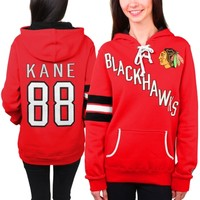 Women's Chicago Blackhawks Patrick Kane Old Time Hockey Red Heidi Hoodie