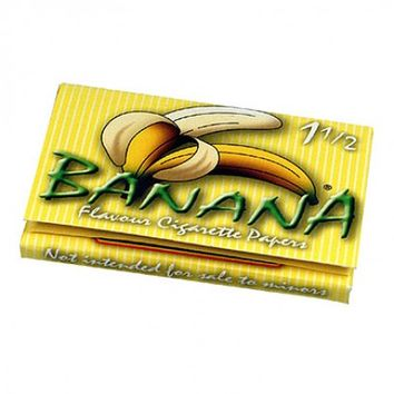 Banana Flavored Regular Size Wide Rolling Papers - Single Pack