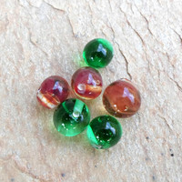 Lampwork Beads, Christmas Fashion Glass Beads, Handmade Glass Bead Jewelry Supplies for Handmade Christmas Jewelry