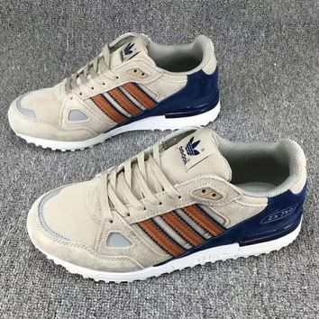 Adidas ZX 750 Fashion Casual Running Sneakers Running Sports Shoes Grey Brown G-CSXY