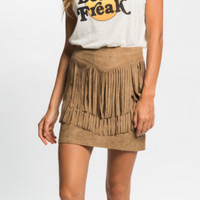 PEOPLE PROJECT LA (PPLA) ROMANCE FRINGE SKIRT