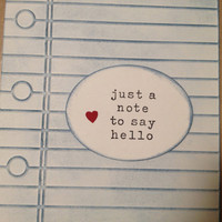Just a Note to Say Hello - Missing You, Hello, Thinking of You Card