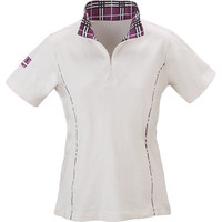 Riding Sport Plaid Trim Zip Mock -S/S | Dover Saddlery