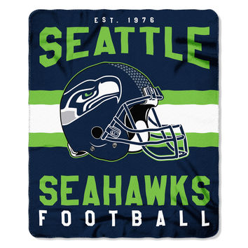 Seattle Seahawks Blanket 50x60 Fleece Singular Design