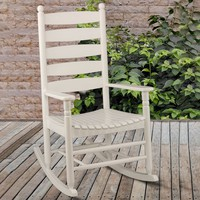 Ladderback Rocker - White | Rocking Chairs | Outdoor Furniture - Cracker Barrel Old Country Store