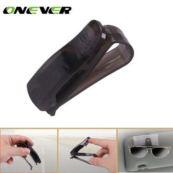 Onever Car Fastener  ABS Car Vehicle Sun Visor Glasses Clip Sunglasses Eyeglasses Holder Card Ticket Pen Clip Accessories