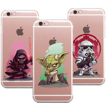Phone Case Marvel Comics Superhero Soft silicone TPU cover for iPhone 7 7Plus 6S 8 Plus 5S SE X 8 Star Wars Bb-8 R2D2 Case