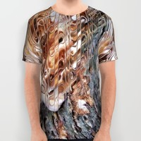Mushroom on Tree Bark All Over Print Shirt by Webgrrl | Society6