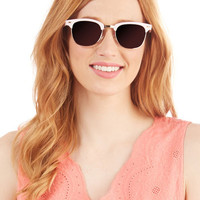 Vintage Inspired Seaside Dreaming Sunglasses in Pink by ModCloth
