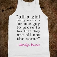 MARILYN MONROE QUOTE TANKTOP FOR GIRLS
