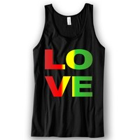 LOVE Rasta Unisex Tank Top Funny and Music