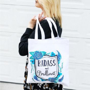 Badass and Brilliant Tote Bag - Handmade in the USA