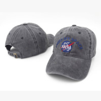 Perfect Nasa Women Men Embroidery Denim Baseball Cap Hat Sunhat