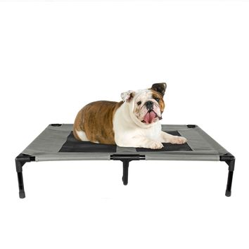 Elevated Dog Bed for Indoor Outdoor Pet Portable Bed Large Grey