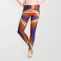 Pages Of Her Life Leggings by Louisa Catharine Design