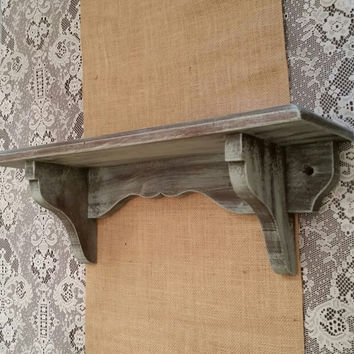 Blue Painted Shelf, Hanging Wood Shelf, Annie Sloan Duck Egg Chalk Painted Shelf, Wall Hanging Shelf, Display Shelf, Shabby Chic Shelf