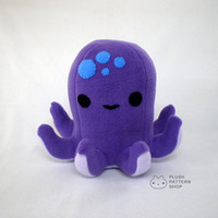 PDF Pattern - Plush Octopus Sewing Pattern Stuffed Animal