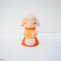 Cute Vintage Soviet Era Little Squeaky Rubber Toy Sheep