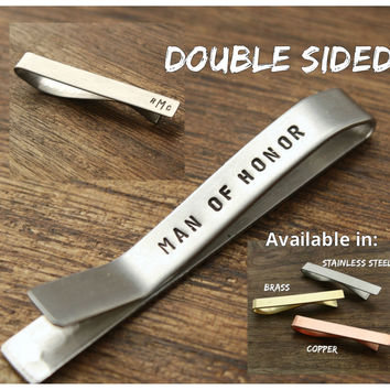 Man of Honor Gift Tie Clip