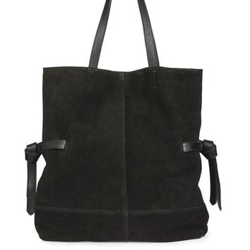 THOS Leather Shopper Bag