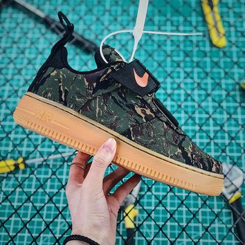 Carhartt Wip X Nike Air Force 1 Utility Camo Green Fashion Shoes - Best Online Sale