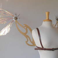 Large Steampunk Fairy Wings by TheFancyFairy on Etsy
