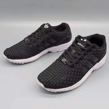 ADIDAS ZX Flux Women Men Running Sport Casual Shoes Sneakers Full Black G-A36H-MY