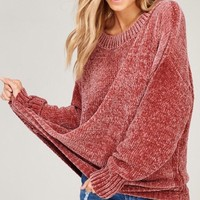 Cloud NINE Chenille Crew Pullover Sweater