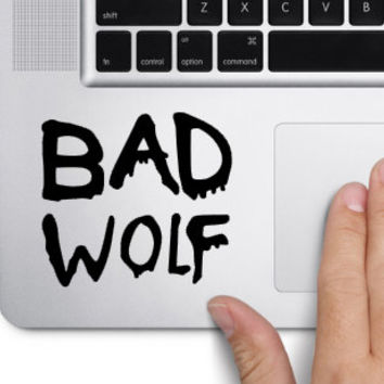 Bad Wolf Doctor Who inspired trackpad decal