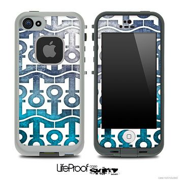White and Abstract Oil Painting Anchor Collage Skin for the iPhone 5 or 4/4s LifeProof Case