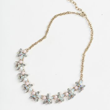 Willow Pastel Flower Crystal Necklace