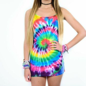 Tight Tie Dye Dresses