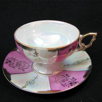 Vintage ENESCO FINE BONE China Made in Japan Cup & Saucer Set, Lovely!