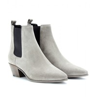 Rock Suede Ankle Boots - Saint Laurent » mytheresa.com
