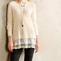 Curtainhem Pullover by Everleigh Cream