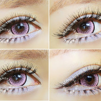 EOS New Adult Pink Colored Contact Lenses Circle Lens | EyeCandys.com