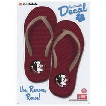 NCAA Florida State Seminoles (FSU) 5'' x 7'' Flip Flop Decal