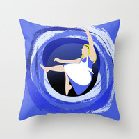 Alice Down The Hole Throw Pillow by Jessica Slater Design & Illustration | Society6