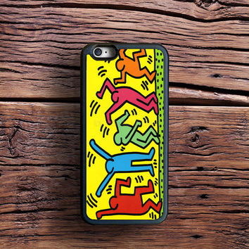 Keith Haring Pop Art Case iPhone 6s Plus, iPhone 6 case, iPhone 5s 5C 4s Case, Samsung Case, iPod case, iPad Case, HTC Case, Nexus Case, LG case, Xperia case