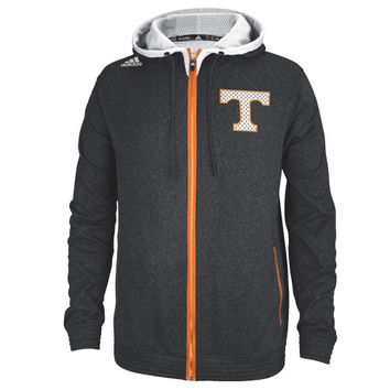 Tennessee Volunteers adidas Heathered Full Zip Hooded Sweatshirt - Black