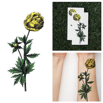 Yellow Bellied - Temporary Tattoo (Set of 2)