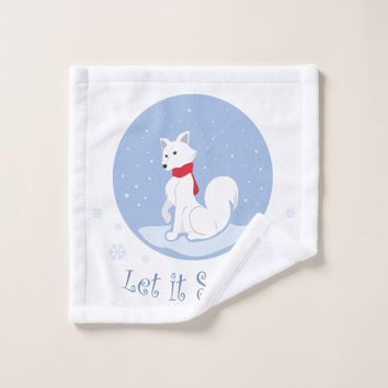 Let It Snow! (Arctic Fox) Wash Cloth