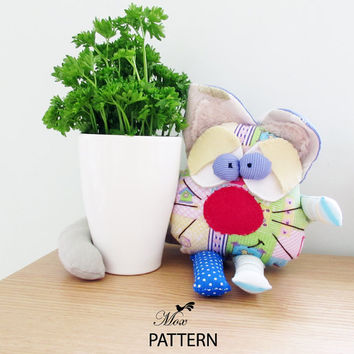 PDF Soft Cat Carmen Sewing Pattern PDF Instant Download