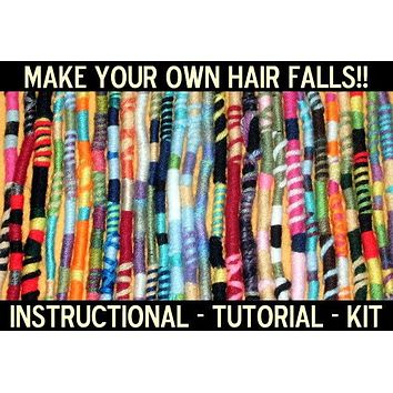 Make Your Own Hippie Hair Wraps Kit! Mail Order Pattern, Instruction, Tutorial, Materials